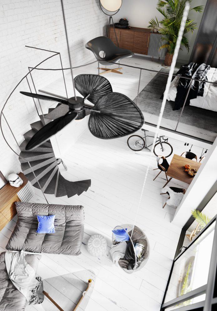 Praska Moderna – Apartament z antresolą